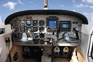 Piper PA28 Archer III – Interior View